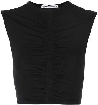 Alexander Wang ruched crop top