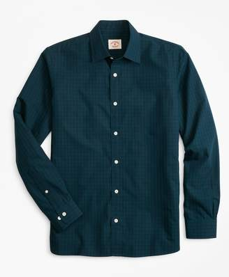 Brooks Brothers Black Watch Tartan Nine-to-Nine Spread Collar Shirt