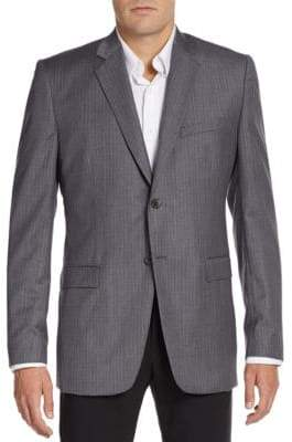 Theory Regular-Fit Grid Check Wool Sportcoat