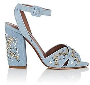 Tabitha Simmons Women's Connie Embellished Denim Sandals-Ldengddgfe