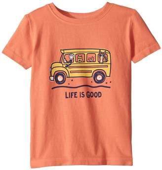 Life is Good School Bus Friends Crusher Tee Kid's Clothing