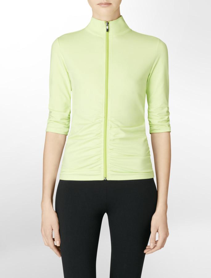 Calvin Klein Performance Ruched Compression Jacket