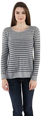 Velvet by Graham & Spencer Women's Sheer Cashmere Stripe Sweater