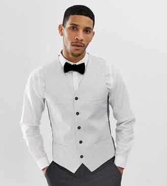 Noak Slim Wedding Vest in Gray