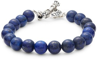 King Baby Studio Lapis & Stainless Steel Toggle Bracelet