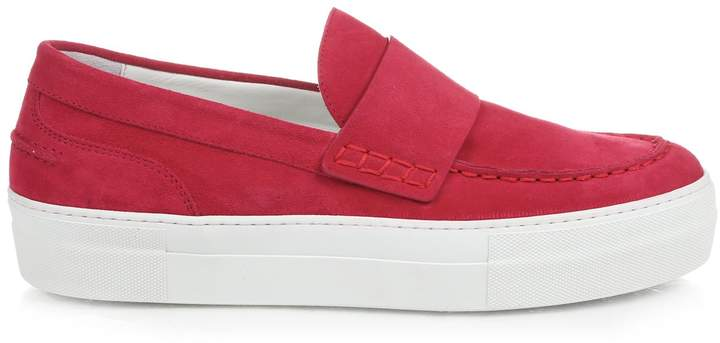 Moncler MONCLER Giselle slip-on suede trainers