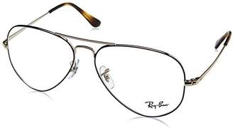 Ray-Ban Women's 0RX 6489 2970 Optical Frames, (Silver On Top Blue)