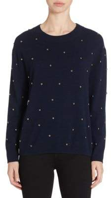 The Kooples Bobbles Studded Sweatshirt