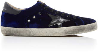 Golden Goose Super Star Velvet Sneakers