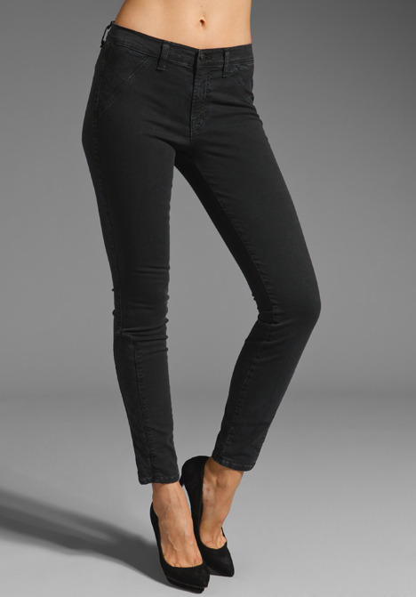 J Brand The Emme Quilted Zip Front Skinny