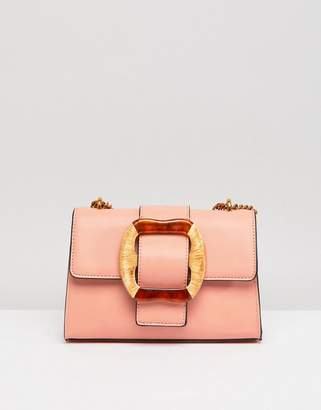 Asos Statement Buckle Cross Body Bag