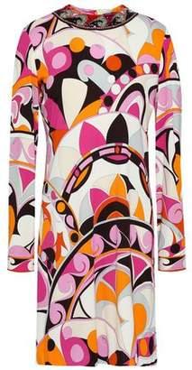 Emilio Pucci Embellished Printed Jersey Mini Dress