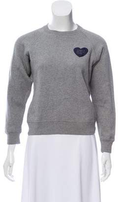 ALEXACHUNG Graphic Long Sleeve Sweatshirt