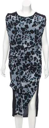 AllSaints Printed Silk Dress