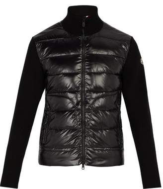 Moncler Quilted Down And Wool Jacket - Mens - Black