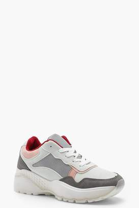 boohoo Colour Block Chunky Trainers