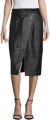 WORTHINGTON Worthington Pleather Envelope Skirt - Tall