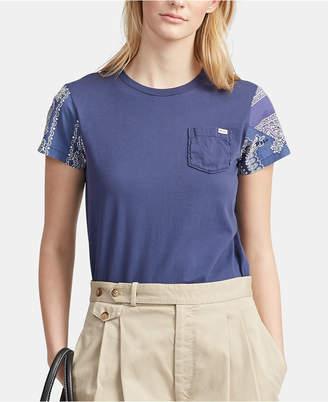 Polo Ralph Lauren Bandanna-Sleeve Cotton T-Shirt