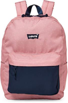 Levi's Girls) Blush Polka Dot Backpack