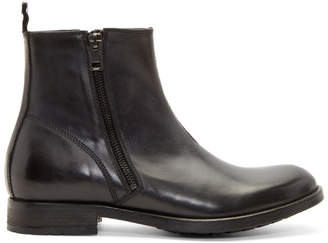 Diesel Black Leather D-Anklyx Boots