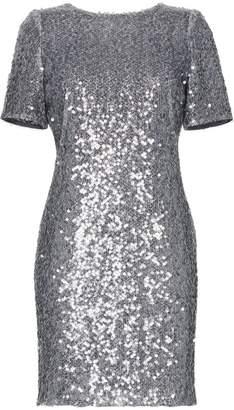 Galvan Sequin embellished scoop back mini dress