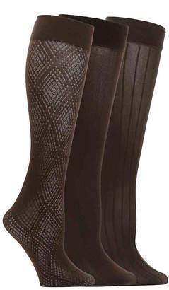 Anne Klein Textured Trouser Socks - 3 Pack - Women's