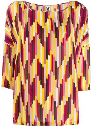 M Missoni printed cropped sleeve blouse