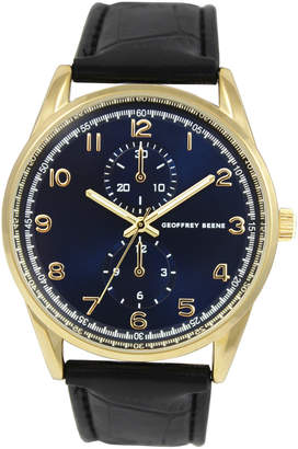 Geoffrey Beene GB8065GDNV Gold-Tone & Blue Watch