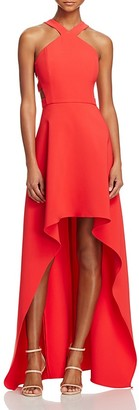 BCBGMAXAZRIA Cutout High/Low Gown - 100% Exclusive $338 thestylecure.com