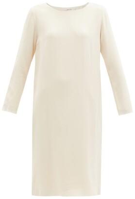 The Row Larina Crepe Tunic Dress - Womens - Cream