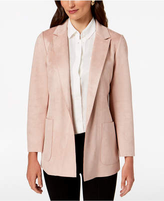 Charter Club Woven Faux-Suede Blazer