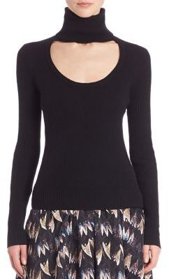 Diane von Furstenberg Gracey Cutout Turtleneck Sweater $198 thestylecure.com