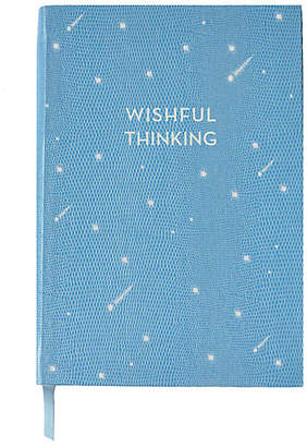 Sloane Stationery Wishful Thinking Journal - Light Blue/White