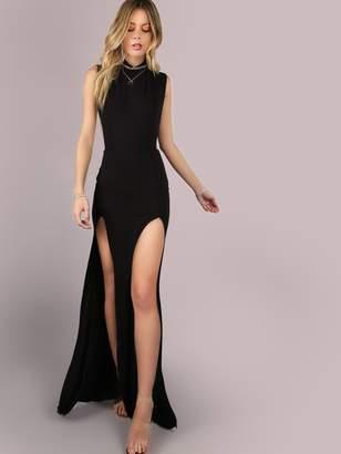 Shein Mesh Back M-Split Maxi Dress
