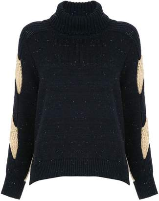 Coohem contrast fitted sweater dress
