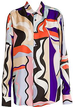 Emilio Pucci Women's Vallauris Oversize Silk Twill Tunic