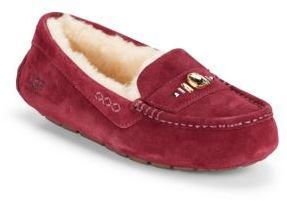 Ansley Swarovski Crystal, Leather & Shearling Loafers $135 thestylecure.com