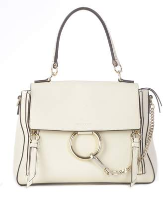Chloé Faye Day Shoulder Bag With Ring Gold Closure, Chain On The Front