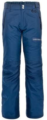Snow Ski Pants for Kids with Reinforced Knees and Seat by Lucky Bums, Navy, Large
