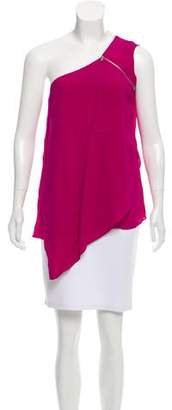 Yigal Azrouel Silk One-Shoulder Top