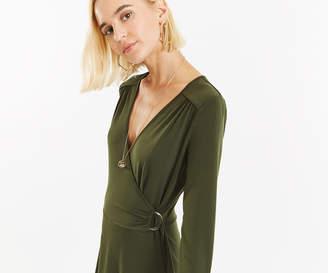 Oasis CREPE WRAP D RING DRESS