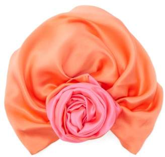 Julia Clancey - Reversible Silk Turban Hat - Womens - Pink
