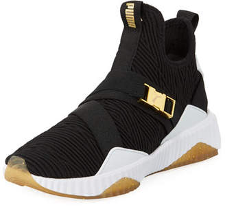 Puma Defy Varsity Knit Mid-Top Sneakers