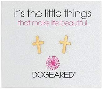 "Dogeared It's The Little Things"" It's The Little Things Simple Cross Earring Studs"