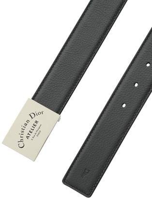Christian Dior Leather Belt With Logo Placket