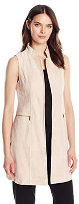 Calvin Klein Women's Suede Vest with Zips