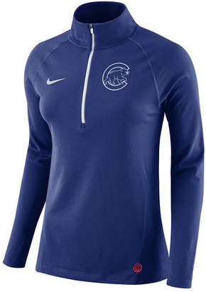 Nike Women Chicago Cubs Half-Zip Element Pullover