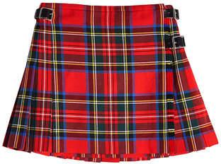 Christopher Kane Tartan Wool Mini Kilt