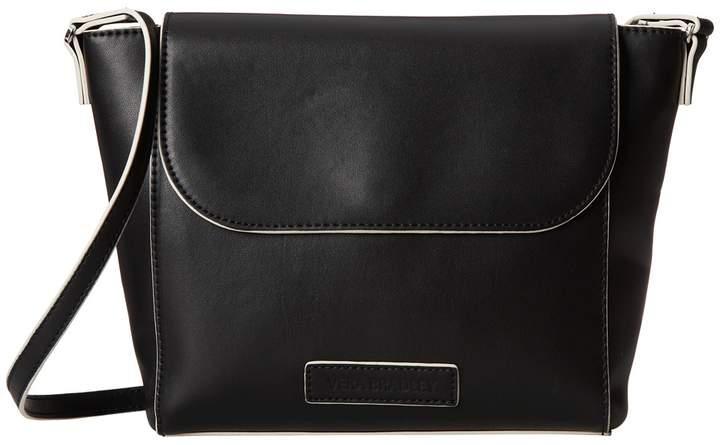 Vera Bradley Solid PU Flap Crossbody Cross Body Handbags - BLACK - STYLE