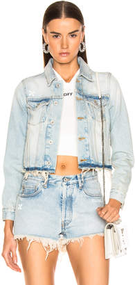 Off-White Off White Cropped Jacket in Bleach | FWRD
